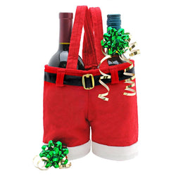 Santa Pants Wine Bottle Bag