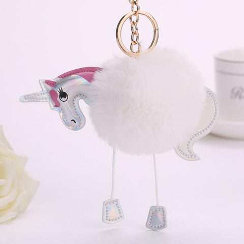 Soft Plush Unicorn Key Chain