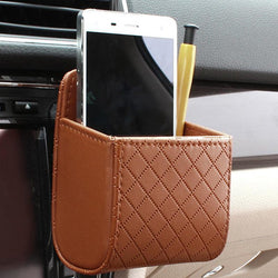 Car Air-vent Leather Phone Holder