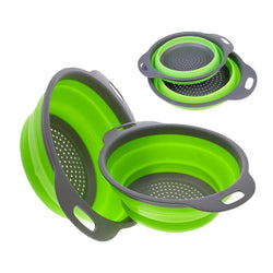 Collapsible Silicone Colander (2pcs) Set