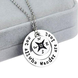 Hand-stamped Wanderlust Necklace
