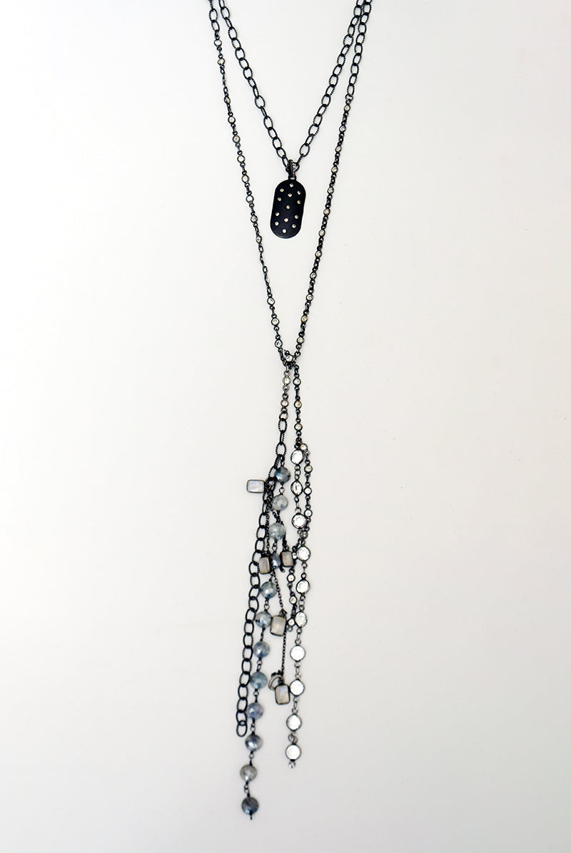 Diamond Dogtag Necklace