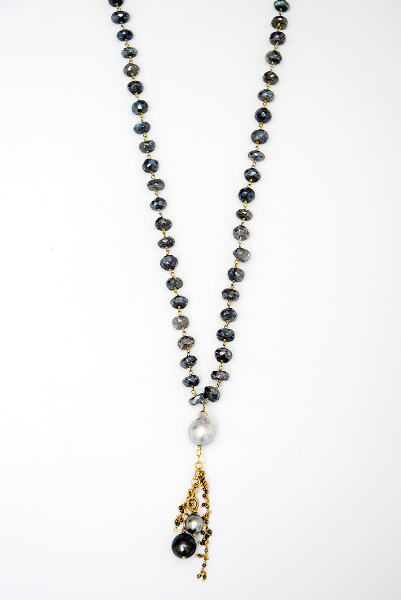 Labradorite & Pearl Necklace