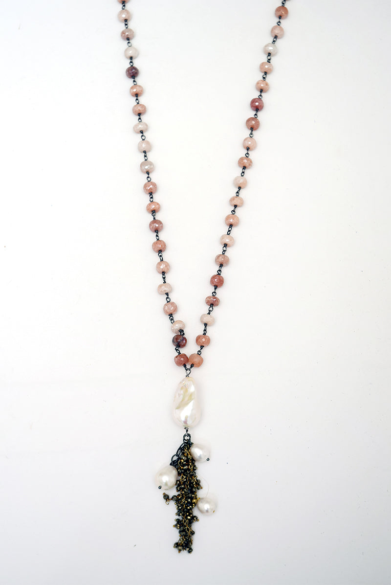 Silverite & Pearl Necklace