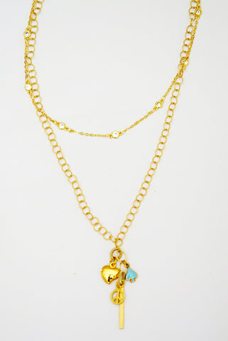 Peace & Love Necklace