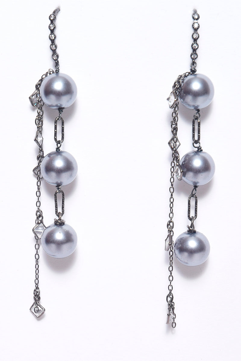 Wire Earrings with Fresh Water Pearls