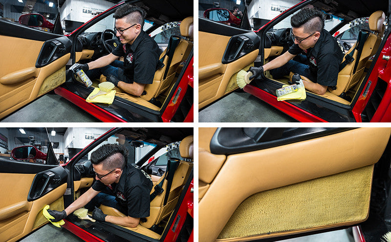 how to clean dark coffee stain on car fabric