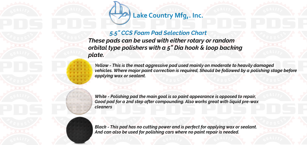 Lake Country CCS Cutting Pad, Yellow - 5.5 inch