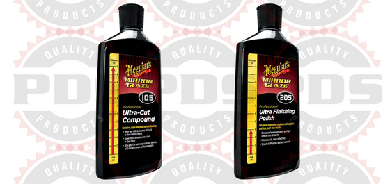 Meguiar's M105 Compound, 8 oz & M205 Polish, 8 oz