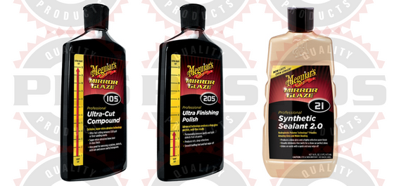 Meguiar's M105 Compound, 8 oz, M205 Polish, 8 oz & M21 Sealant 16 oz