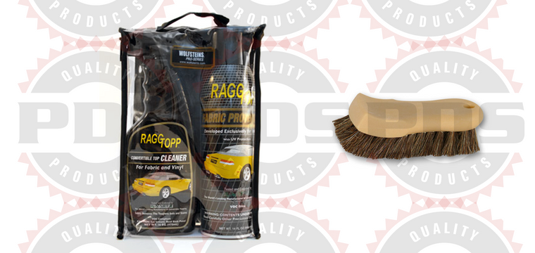 RaggTopp Fabric Kit with Horsehair Brush