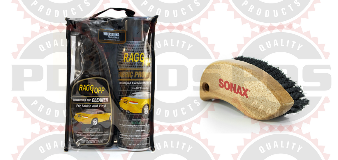 RaggTopp Fabric Kit with Sonax Fabric Brush