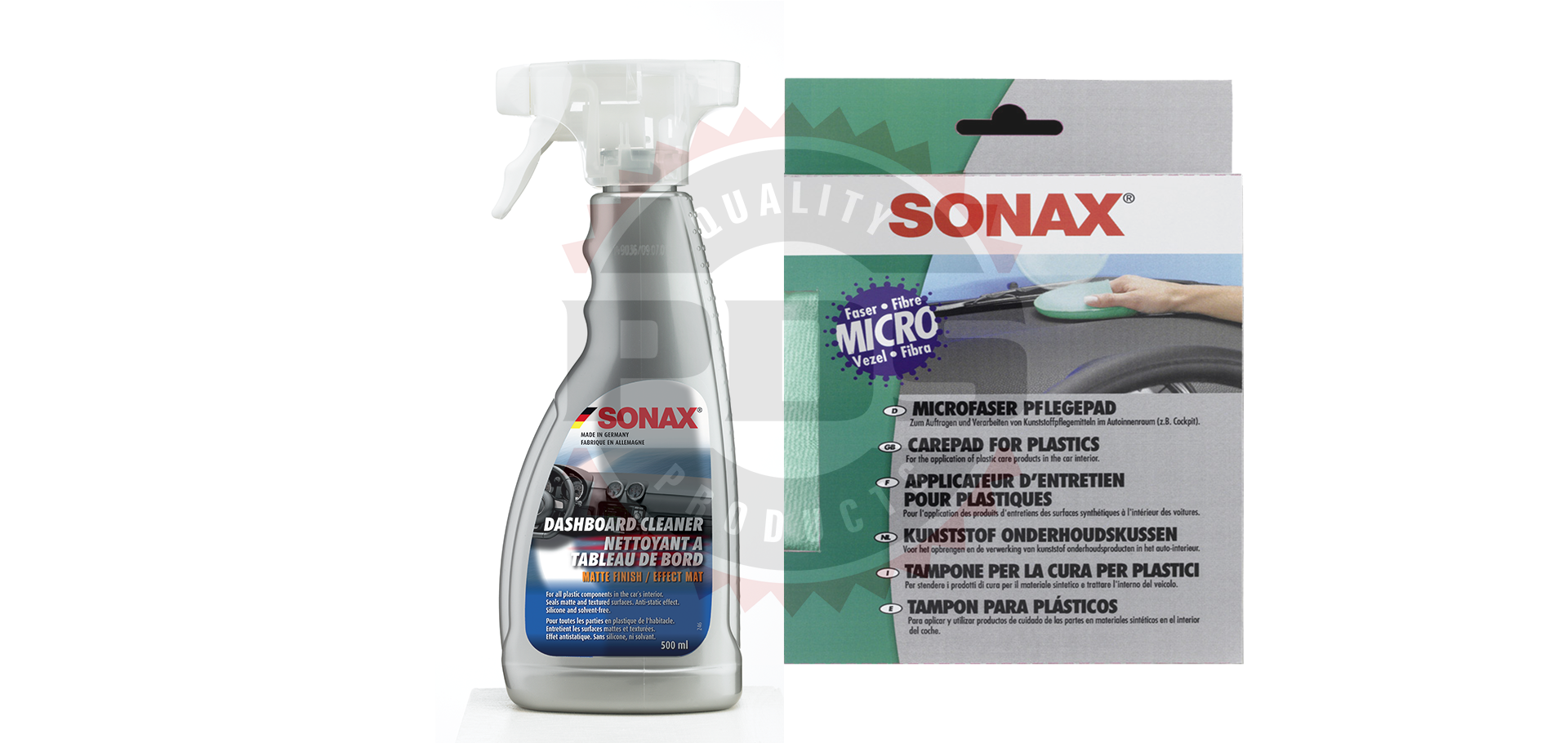 sonax dashboard cleaning kit premium detailing supplies. Black Bedroom Furniture Sets. Home Design Ideas
