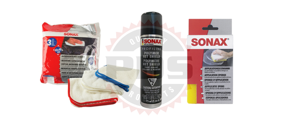 Sonax Polymer Net Shield With 3 Pk Microfiber Cloths Kit