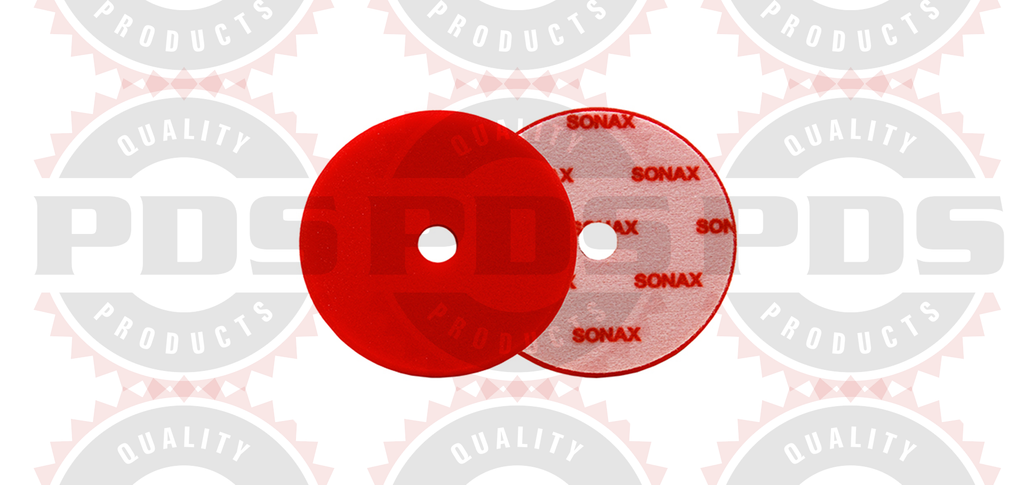 "Sonax Dual Action Red Cutting Pad - 143mm (5.6"")"