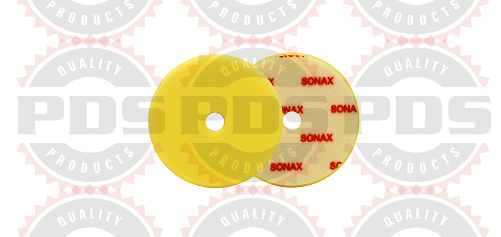 "Sonax Dual Action Yellow Polishing Pad - 143mm (5.6"")"