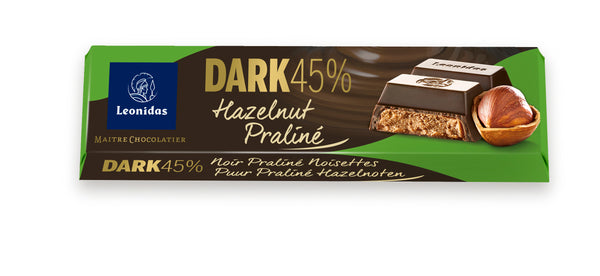 Praline Hazelnuts Dark 45% Chocolate Bars (榛子 45%牛奶朱古力棒)