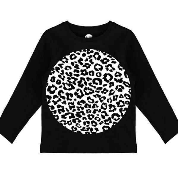 Black Leopard Long Sleeve Tee