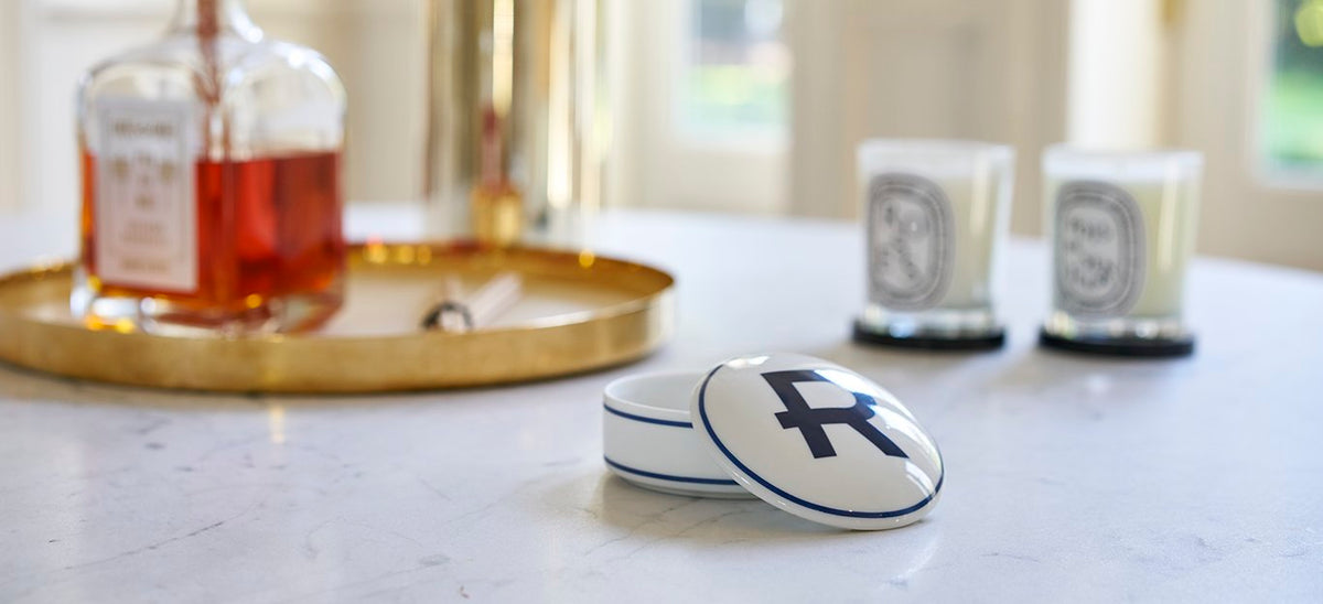 Personalized porcelain customized monogram box