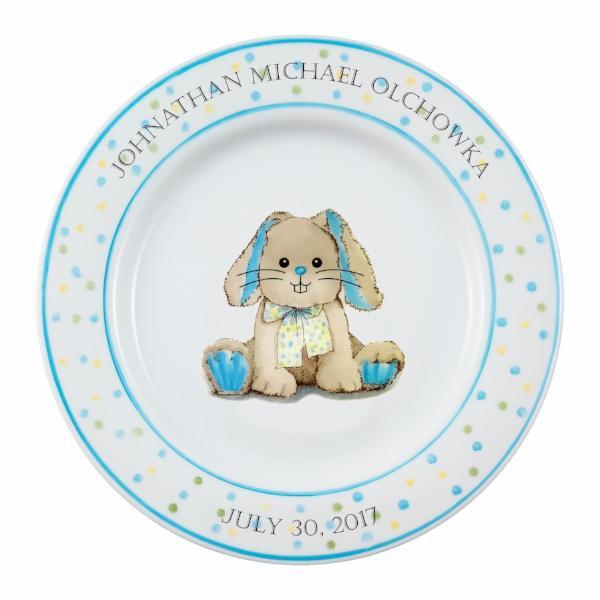 Personalized Baby Plate | Bunny