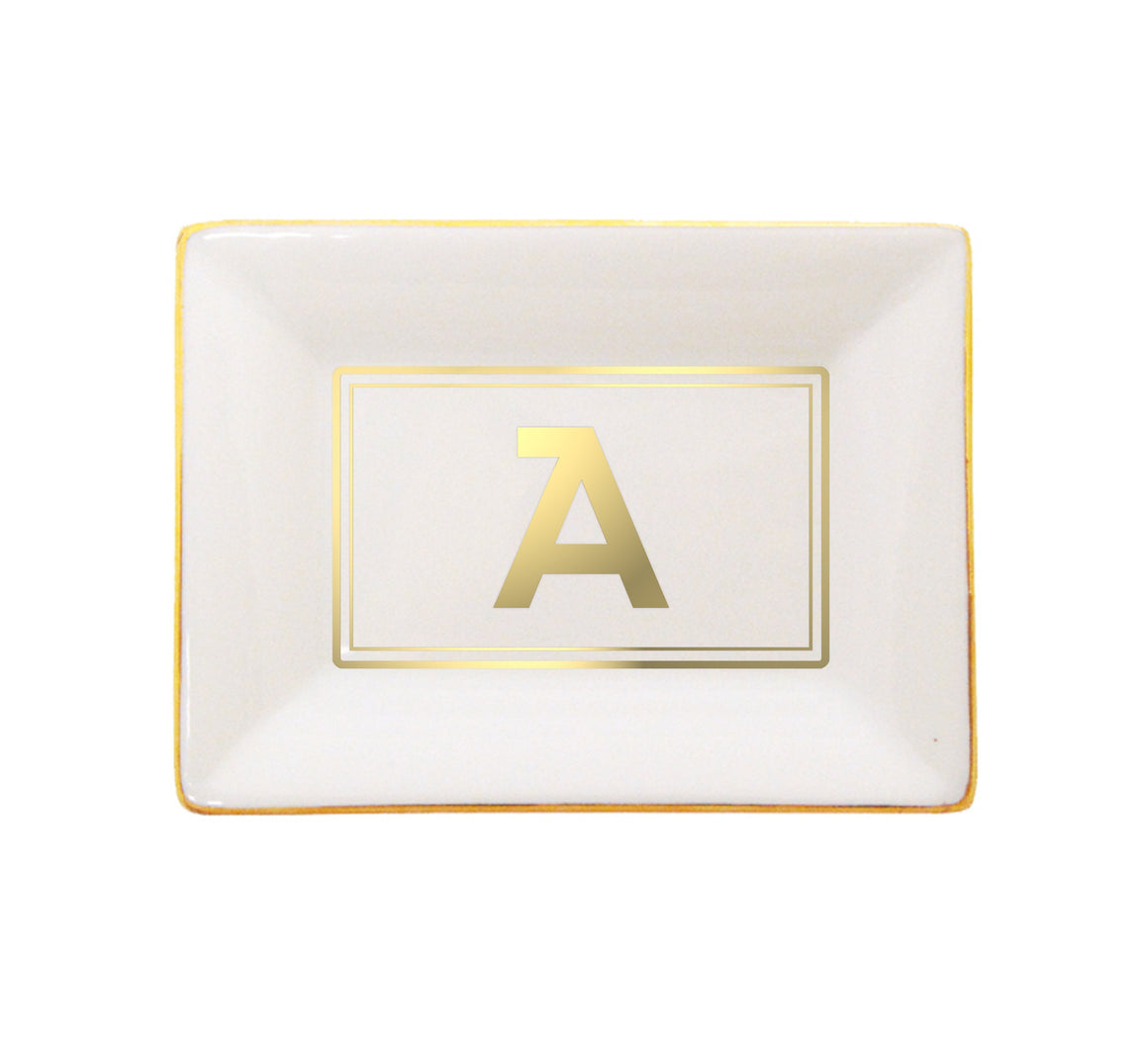 Gold Initial Catchall Tray | Brooklyn