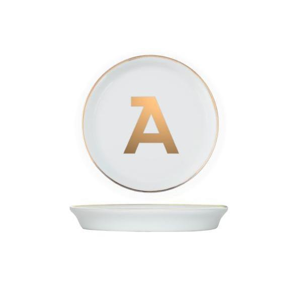 Personalized Initial Coasters | Brooklyn | Gold