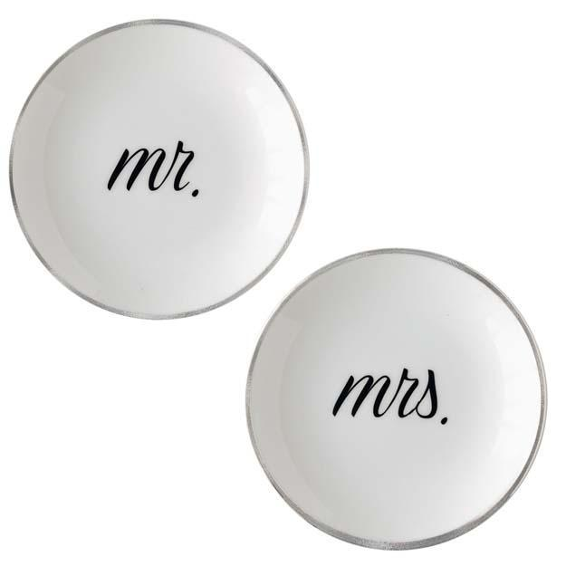 Mr. and Mrs. Ring Dishes | Platinum