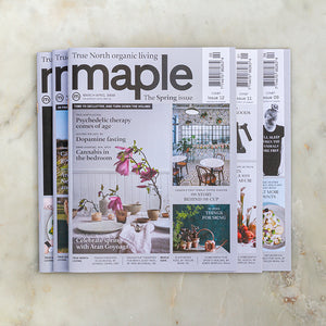 Maple magazine subscription, 5 issues per year