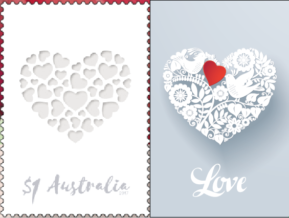 Love 2017 Personalised Stamps