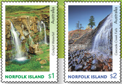 Norfolk Island: Waterfalls 2017 Set of Gummed Stamps
