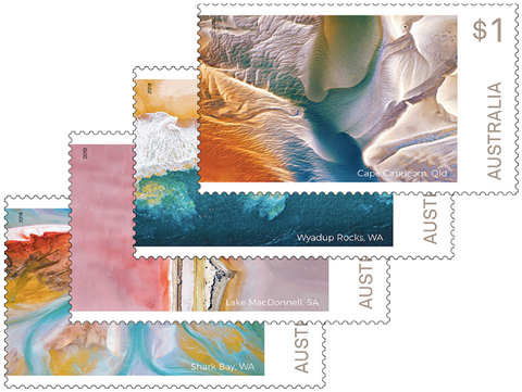 Australia: Art in Nature 2018 Set of Gummed Stamps