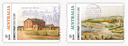 Australia: Convict Past 2018 Set of Self-adhesive Stamps from Rolls