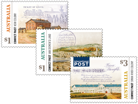 Australia: Convict Past 2018 Set of Gummed Stamps