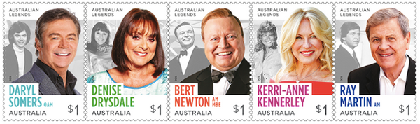 Australia: Legends of Television 2018 Set of Self-adhesive Stamps
