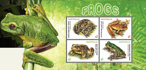 Australia: Frogs 2018 Miniature Sheet