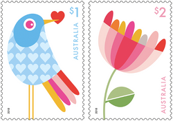 Australia: With Love 2018 Set of Gummed Stamps
