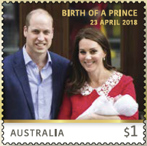 Australia: Birth of a Prince 2018 Gummed Stamp