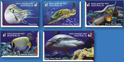 Australia: Reef Safari 2018 Set of Gummed Stamps