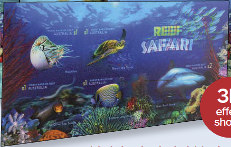 Australia: Reef Safari 2018 Lenticular Miniature Sheet