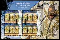 Australia: Perth Stamp Show Foil Daily Postmarked Miniature Sheets