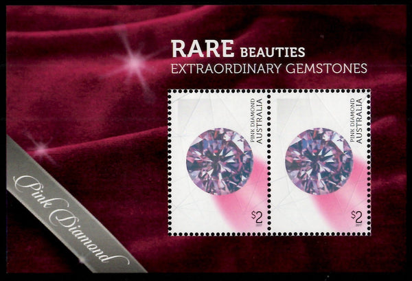Australia: Rare Beauties Gemstones Medallion Cover Miniature Sheets