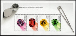 Australia: Rare Beauties Gemstones Miniature Sheet