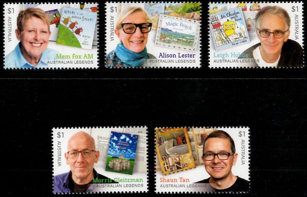 Australia: Australian Legends 2019 Children's Authors Set of Gummed Stamps