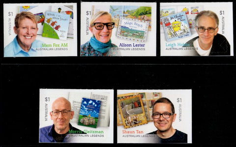 Australia: Australian Legends 2019 Children's Authors Set of Self-adhesive Stamps