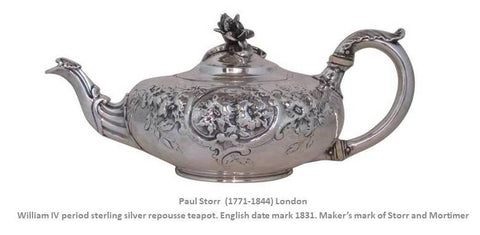 Paul Storr English Sterling Silver Regency Georgian Period William IV