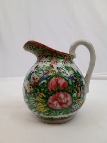 19th Century Chinese Rose Canton Porcelain Creamer.