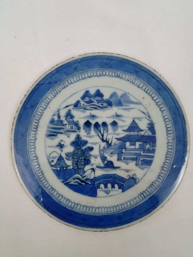 19th Century Chinese Canton Porcelain Trivet.