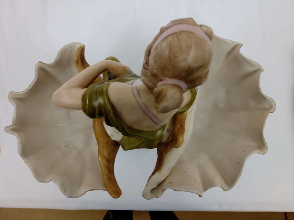Royal Dux Art Nouveau Figurine of Woman in a Seashell.