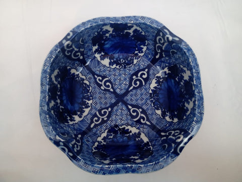 Japanese Imari Porcelain Blue and White Large Serving Bowl.