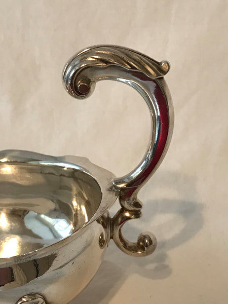 Gravy boat.English sterling silver.London 1752 date mark.John Jacob maker's mark.